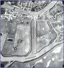 AERIAL VIEW OF DELTA CROSS CHANNEL NEAR WALNUT GROVE
